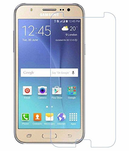 NishTech 2.5D Tempered Glass Screen Protector For Samsung Galaxy J2 (2015) Full Screen Coverage With Easy Installation Kit