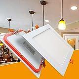 LED Panel 6W eckig flach ultraslim neutralweiß Einbaustrahler Spot Einbauspot Deckenleuchte Weiß