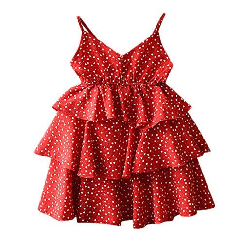 Julhold kleine kinderen baby meisjes V-hals kleding mouwloos liefde print party prinses jurk zomer 2019