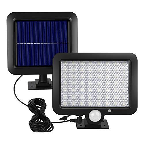 Solarlampen für Außen, Vivibel 56 LED Solar Außenleuchte mit Bewegungsmelder, IP65 Wasserdichte, 120° Beleuchtungswinkel, 3 Modi Solar Wandleuchte mit 16.5ft Kabel für Garten