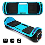 CHO POWER SPORTS 2019 Electric Hoverboard UL Certified Hover Board Electric Scooter with Built in Speaker Smart Self Balancing Wheels (Blue)
