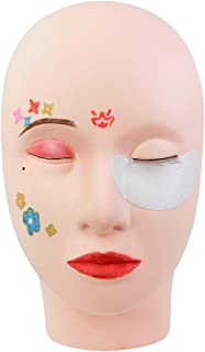 Practice Training Head, Silicone Permanent Makeup Rubber Mannequin Head, for eyelashes extension planting