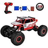 SZJJX RC Cars Off-Road Remote Control Car Trucks Vehicle 2.4Ghz 4WD Powerful 1: 18 Racing Climbing Cars Radio Electric Rock Crawler Buggy Hobby Toy for Kids Gift-Red