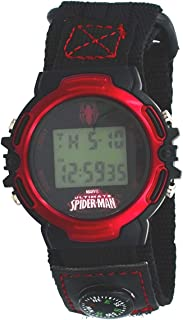 Marvel #SPMAD602 Ultimate Spiderman Digital Watch with Velcro Band