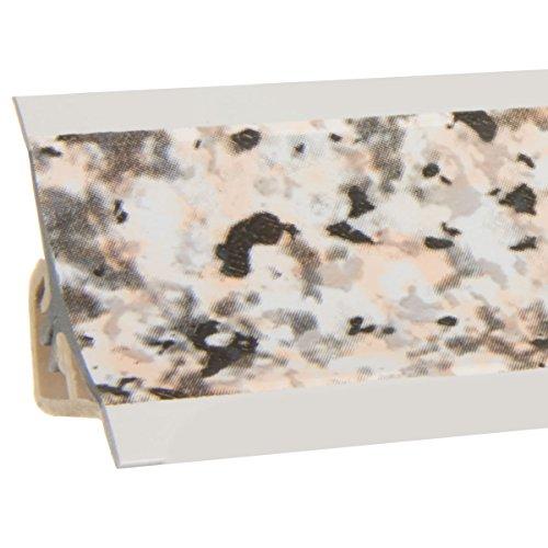 HOLZBRINK Küchenabschlussleiste Granit Küchenleiste PVC Wandabschlussleiste Arbeitsplatten 23x23 mm 150 cm
