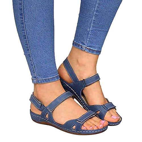 SmallPocket Sandalias Mujer Verano 2020 Cuña Planas Comodas Fiesta Impermeable Zapatos Casuales Puedes Caminar Fácilmente En La Playa Adecuado para Senderismo Al Aire Libre Y Caminar por La Playa