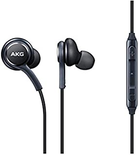 OEM Stereo Headphones with in-line Remote & Microphone for Samsung Galaxy S8, S8 Plus S9, S9 Plus Note 8 Note 9 [Grey] Bulk Packaging
