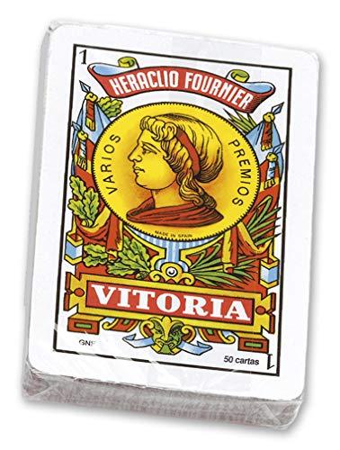 Fournier- Nº12 Baraja española de 50 Cartas empaquetada en celofán,  Multicolor (20992)