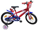 EDEN-BIKES Bicicleta de 16 Pulgadas, Garcon Licence Spiderman-2 FREINS, Bicicleta Infantil, Multicolor, 16'