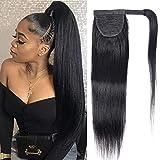 Brazilian Virgin Straight Human Hair Ponytail Drawstring 100% Remy...