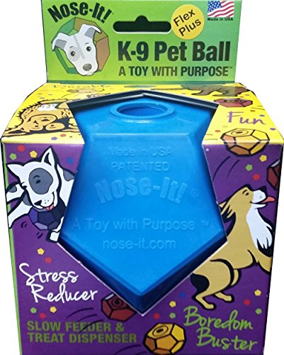 Nose-It K-9 Pet Ball Flex Plus Blue A Toy with Purpose