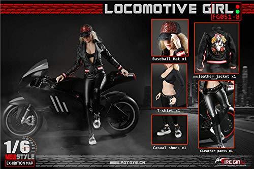 ZSMD 1/6 Trend Motorrad Mädchen Lederanzug Action Doll Kostüm Für HT VERYCOOL TTL Play PHICEN (A)