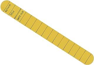Library Card Slap Bracelet (Yellow)