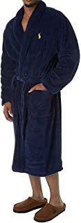 Men's Microfiber Plush Long Sleeve Shawl Collar Robe