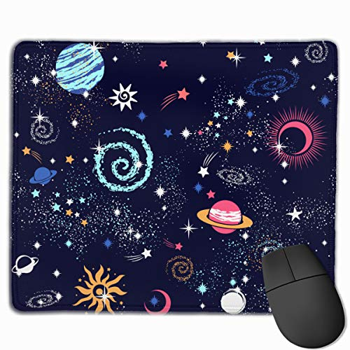 Mouse Pad Universe Planet Colorful Mousepad Non-Slip Rubber Gaming Mat Rectangle Pads for Computers Laptop Mouse Pad
