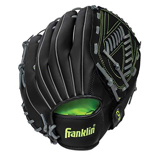 "Franklin Sports Baseball and Softball Glove - Field Master - Baseball and Softball Mitt, Black, 13"""