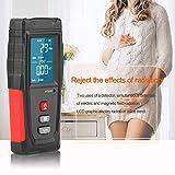 SYXZ Profesional de Alta precisión Mini LCD Digital para el hogar Detector de radiación electromagnética de Ondas Medidor EMF Tester,Negro