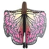 kingko Frauen Schmetterlingsflügel Schal Schals, Frauen Weiche Gewebe feenhafte Damen Nymphe Pixie...