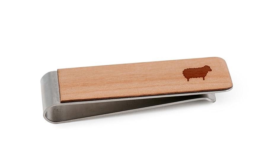 終わり上陸三番Sheepお金クリップ|木製お金クリップ
