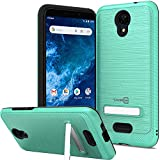CoverON Metal Kickstand Designed for Cricket Icon 2 Phone Case, ReinDesigned Forced Magnetic Stand Rugged Cover - Mint Teal