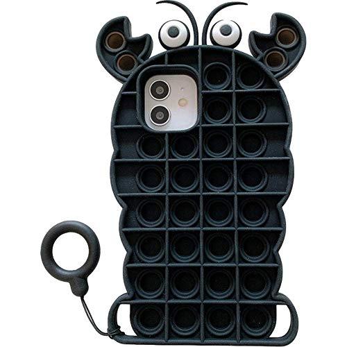 CIVIKY Funda para teléfono de silicona suave roedor Pioneer funda protectora para teléfono 11 12 Pro MAX XS Max XR X (para 7, 8, SE) (para iPhone 12Pro Max, negro)