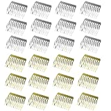 30pcs 10 Teeth Hair Combs Metal Wedding Veil Hair Combs Pins Clips for DIY Jewelry Making Crafts