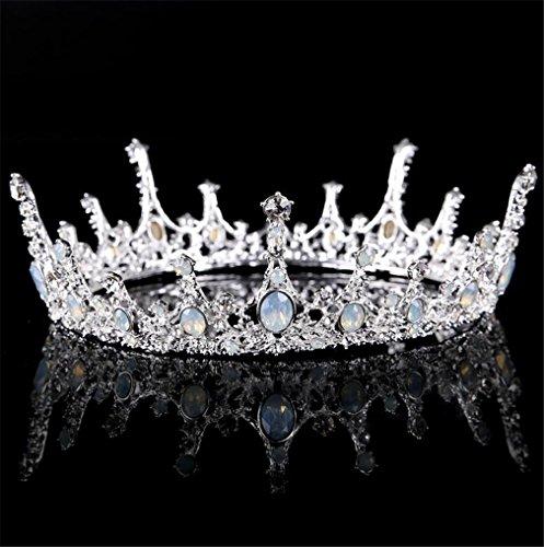 ELEGENCE-Z kroon, vintage bruidsdiadeem, bergkristallen huwelijksaccessoire voor schoonheidswedstrijd, verjaardag, bruiloft, zilver