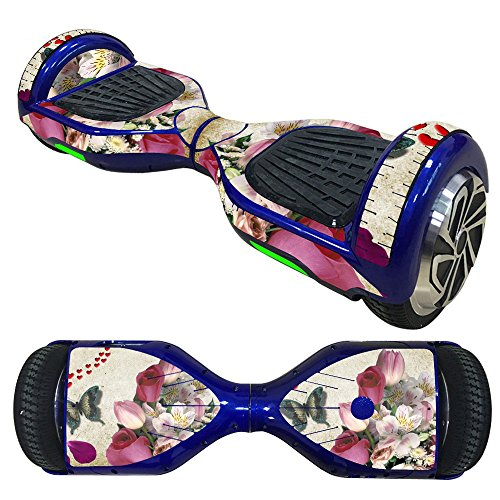 Fewear Protective Skin Decal for 6.5in Self Balancing Scooter Hoverboard 2 Wheels- Sticker for Hover Board - Skin for Self-Balancing Electric Scooter - Decal for Self Balance Mobility Longboard (L)
