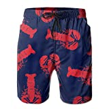 YOIGNG Boardshorts Red Lobster Men's Quick Dry Swim Trunks Beach Shorts