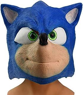 Vercico Sonic Mascara The Hedgehog Mascara látex Cosplay Disfraz Máscara de Fiesta de Halloween para Adolescentes y Adultos
