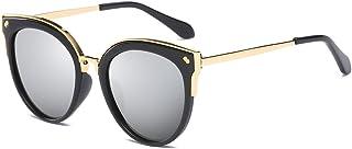 Cyxus Women's Cat's Eye Metal Rim Lady Fashion Mirrored Lens Women Sunglasses 1946
