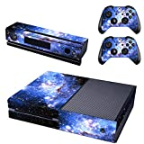 SKINOWN Skin Sticker for Xbox One Console and 2 Controller with 1 Kinect Skins (Blue Galaxy)