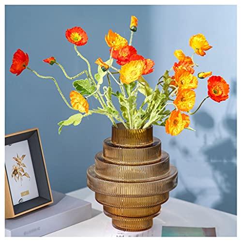 Blumensträuße aus Kunststoff Künstliche Blume Mohnblume Blume Dekoration Gefälschte Blume Wohnzimmer Esstisch Blume Anordnung Set Geeignet für Party Hochzeit Raumlayout Gefälschte Blumensträuße