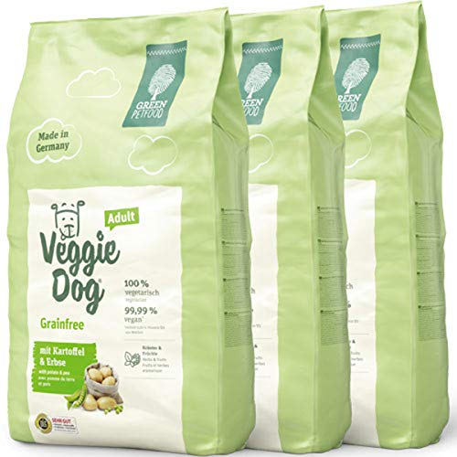 Green Petfood 30 Kg = 3 x 10 kg Veggie Dog Adult Grainfree