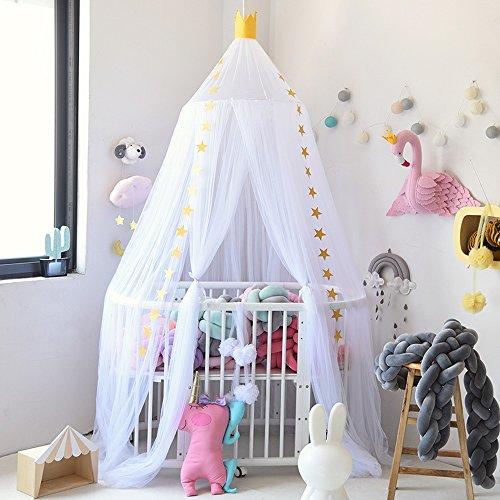 Hoomall Décoration Chambre Moustiquaire Ciel de Lit Baldaquin Moustiquaire Tente Jeu...