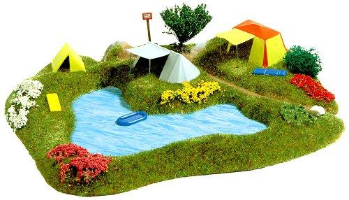 Busch 3108 - See mit Campingplatz HO