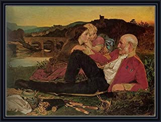 TOPofART Sandys (Autumn, c.1860/62) Canvas Art Print Reproduction Framed with 2.6