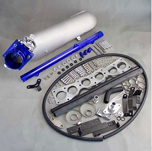 GOWE Aluminum Intake Manifold+ 80MM Tbody For Supra 2JZ-GTE Aluminum Intake Manifold+ 80MM TBody+ 2JZ-GTE Fuel Rail
