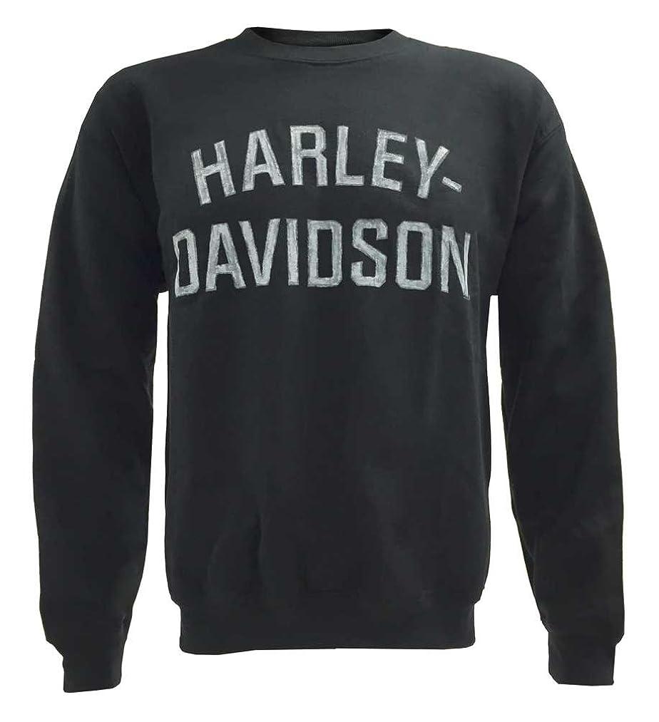 Harley-Davidson Men's Heritage Pullover Crew Sweatshirt Black H-D 30296636