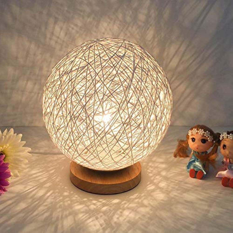GaLon Kreative Schlafzimmer Schreibtischlampe, Nachttischlampen, LED-Nachtlicht, Rattan Ball Dekoration Schreibtischlampe, Geburtstag Geschenk-C 20x23cm (8x9 Zoll)