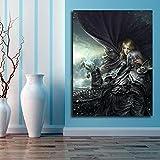 DIY Pintar por números Pintura decorativa de la pintura del arte de World of Warcraft pintar por numeros paisaje kits de números decoración de la habitación Adecuado para la d50x70cm(Sin marco)