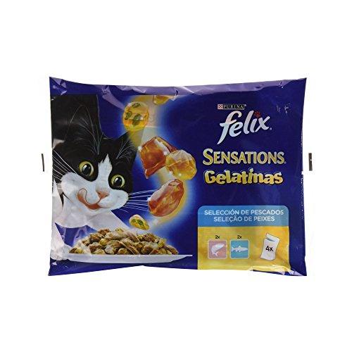 Felix - Sensations Pescados en sabrosas Gelatinas Pack surtido sobres 4 x 100 g - 400 g ⭐