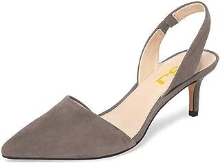 Women Fashion Low Kitten Heels Pumps Pointed Toe...