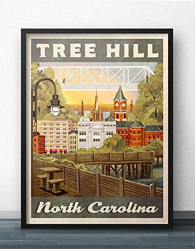 shethinx Tree Hill Retro Vintage Travel Poster Inspired by One Tree Hill | Poster No Frame Board for Office Decor, Best Gift for Family and Your Friends 1117 Inch