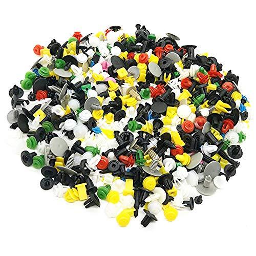 1000 Piezas Clips Remaches Plástico,Clips de plástico para Puerta de Coche,Clips Remaches Universales de Plastico,para Utilizado en Vehículos Regulares(Mezcla de Colores Aleatorios)
