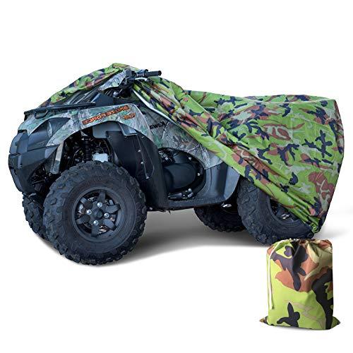 Tokept 190T Black Quad Bike ATV ATC Rain Waterproof Cover XXL Size 88'' x 39.2'' x 42.4'' (Camouflage, XXL)