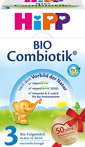 Hipp Bio Combiotik 3 Folgemilch - ab 10. Monat, 12er Pack (12 x 600g)