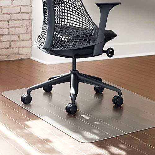 Polycarbonat Bodenschutzmatte transparent Bürostuhlunterlage Stuhlmatte Büromatten für Hartböden rutschfest, BPA frei, Keine Ausdünstunge, 90 x 120 cm