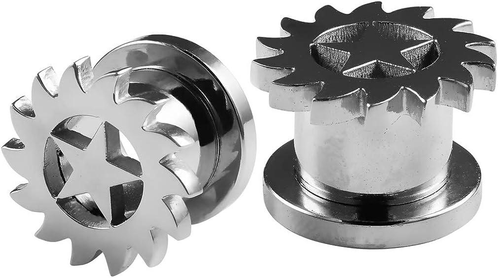 Bling Max 67% OFF Piercing 2pc Gauge 316L Surgical Flesh S Regular dealer Saw Tunnels Steel