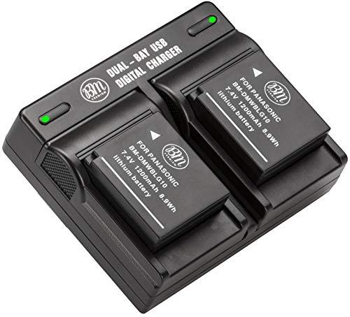 BM 2 Pack DMW-BLG10 Batteries and Dual Battery Charger for Panasonic Lumix DC-G100 DC-ZS80 DC-GX9 DC-LX100 II DC-ZS200 DC-ZS70 DMC-GX80 DMC-GX85 DMC-ZS60 DMC-ZS100 DMC-GF6 DMC-GX7K DMC-LX100K Cameras